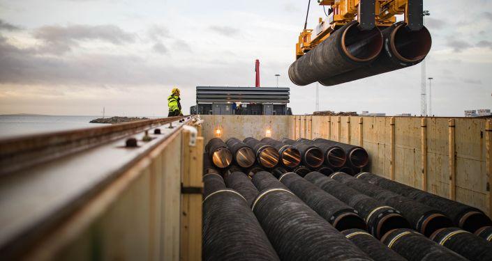 Potrubí pro Severní proud. Ilustrační foto