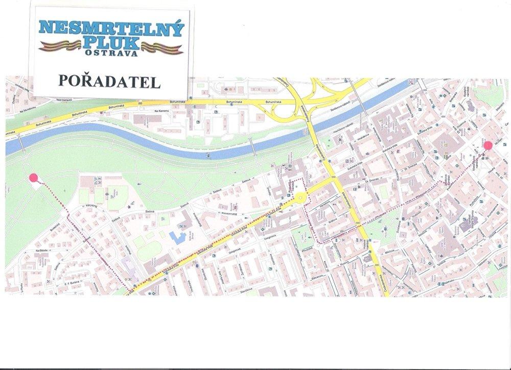 Mapa pochodu Nesmrtelného pluku