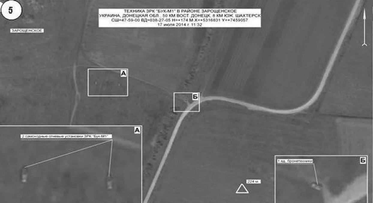 Údaje objektivní kontroly ruského Generálního štábu o katastrofě MH17