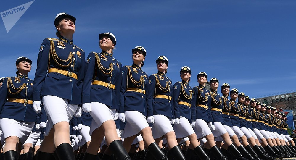 Studentky Vojenské univerzity Ministerstva obrany Ruska