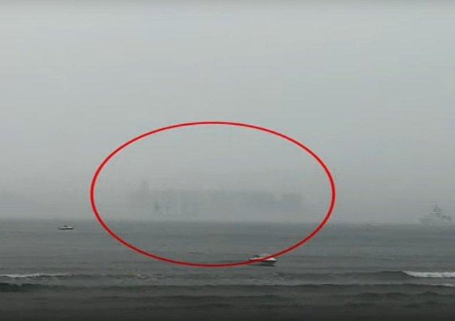 Přízračné vidiny se objevily nad mořem v Číně