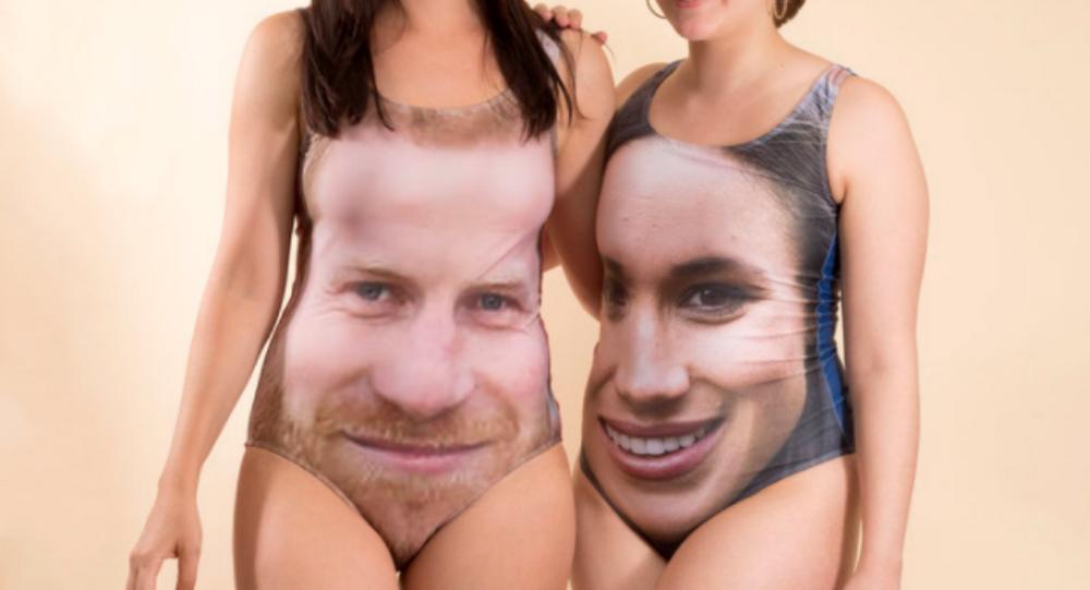 Plavky s královskými portréty