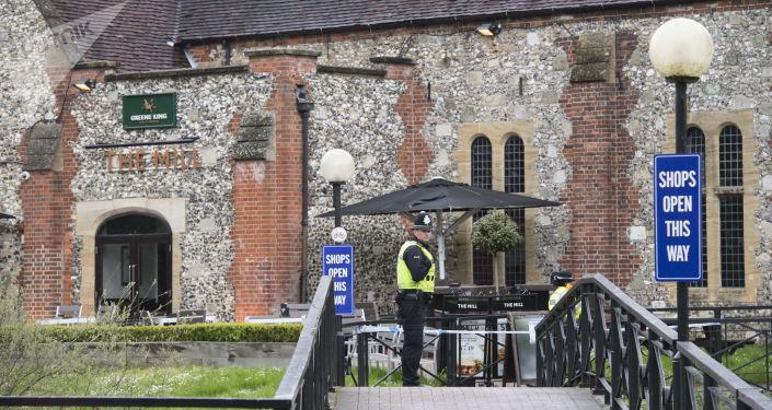 Policie v britském Salisbury