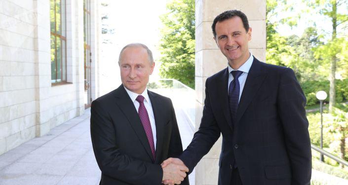 Vladimir Putin a Bašár Asad
