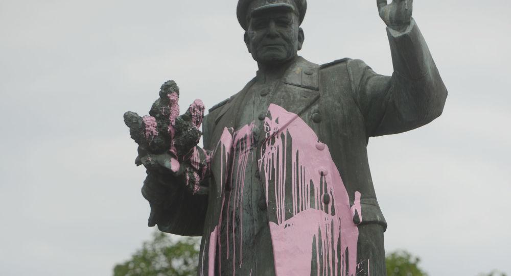 Pomník maršála Ivana Koněva v Praze
