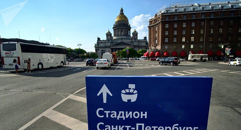 Příprava Petrohradu na MS 2018