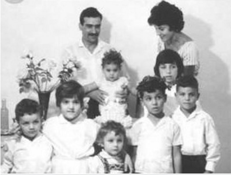 Eli Cohen with his family
