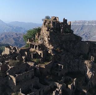 Vesnice přízrak, která se nachází v horách Dagestánu