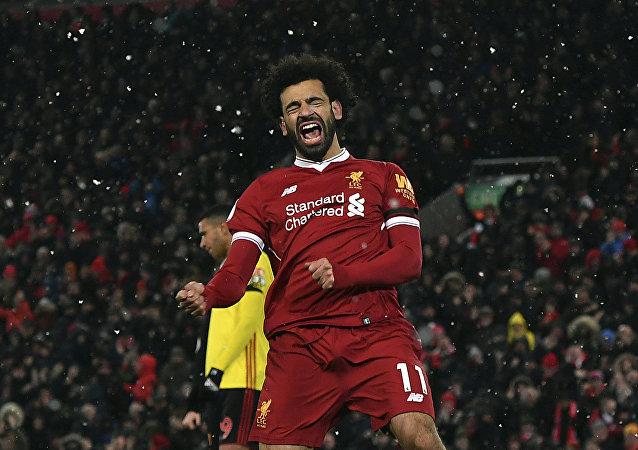 Útočník Liverpoolu Mohamed Salah