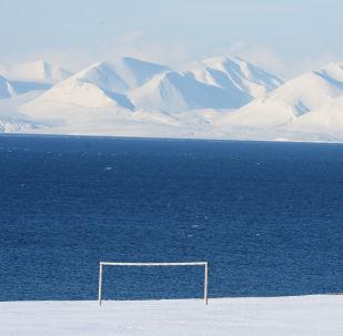 Fotbalová brána na Špicberkách