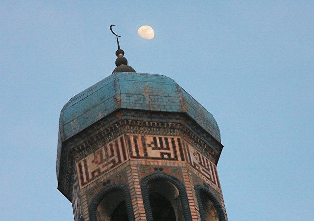 Mešita v Dušanbe, Tádžikistán
