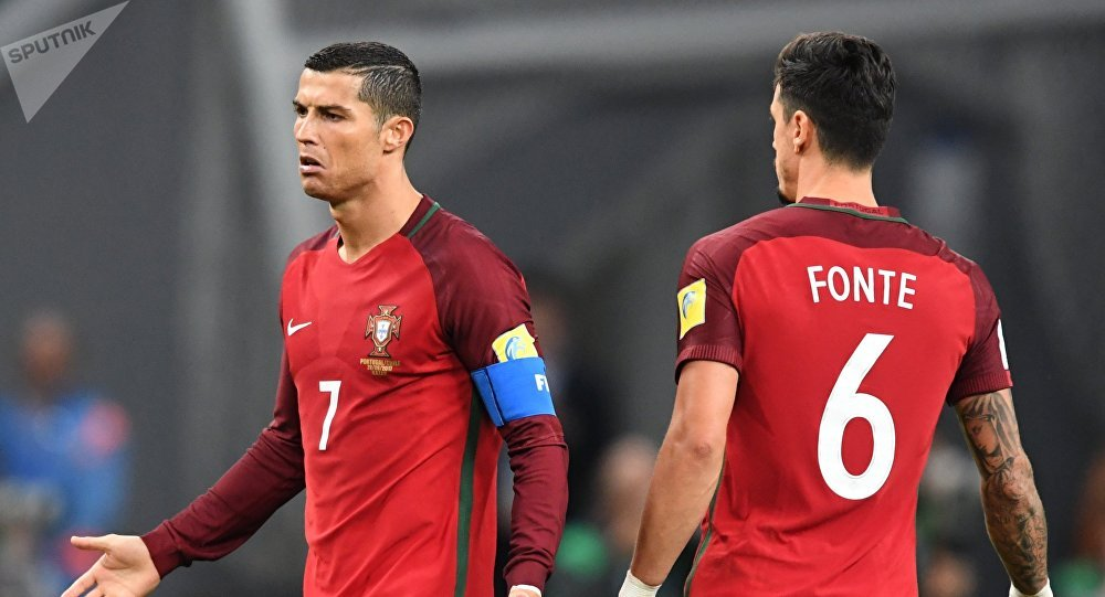Cristiano Ronaldo při zápase Konfederačního poháru 2017