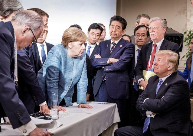 Angela Merkelová a Donald Trump