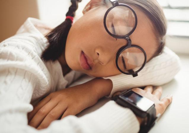 Žákyně spí
