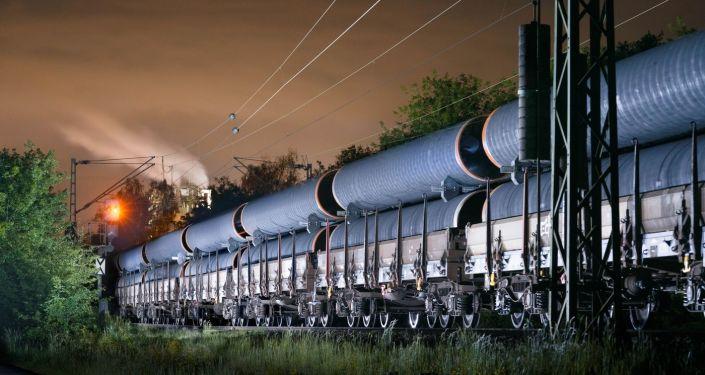 Přeprava potrubí pro Severní proud 2, Německo