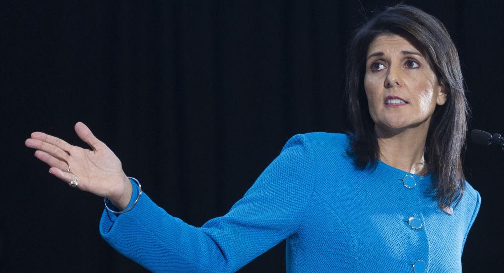 Americká zástupkyně v OSN Nikki Haleyová