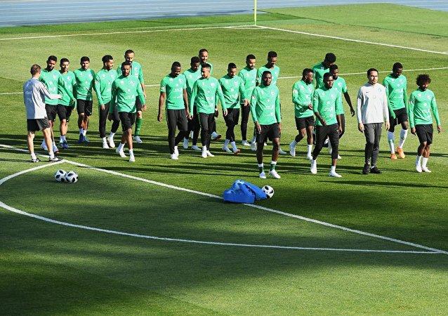 Trénink saúdského týmu