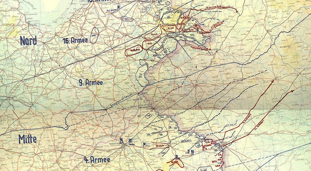 Trofejní mapa německého plánu Barbarossa