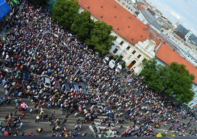 Protesty za slušné Slovensko