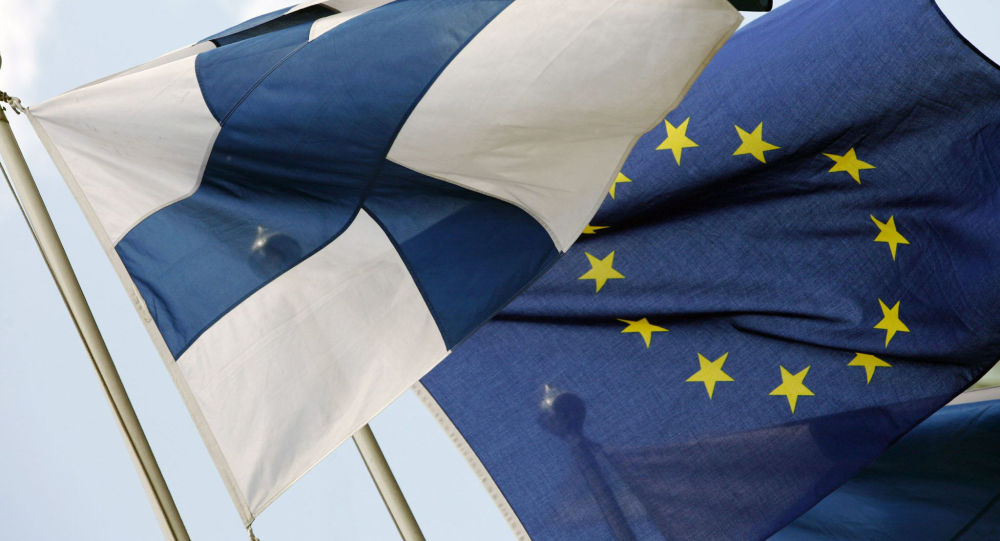 Vlajky Finska a EU