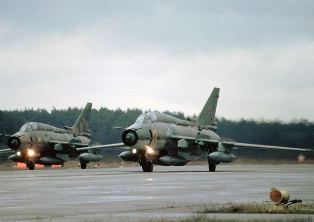 Stíhačka Su-27.