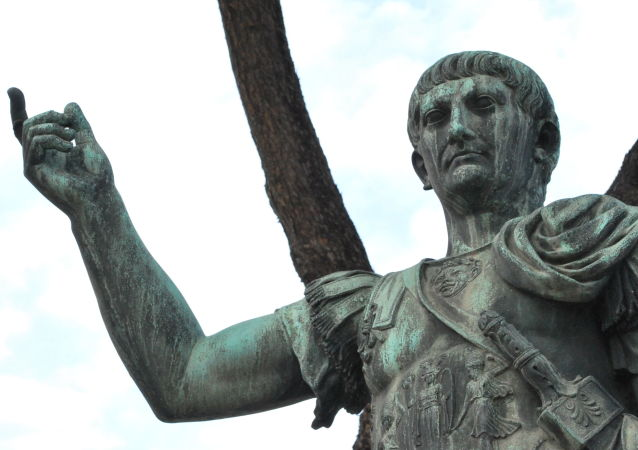 Socha řimského vojevůdce a politika Caesara