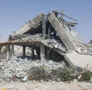 Výzkumné středisko v Sýrii, které vybombardovala koalice. Ilustrační foto