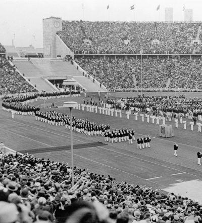 Zahájení Olympijských her v Berlíně v roce 1936