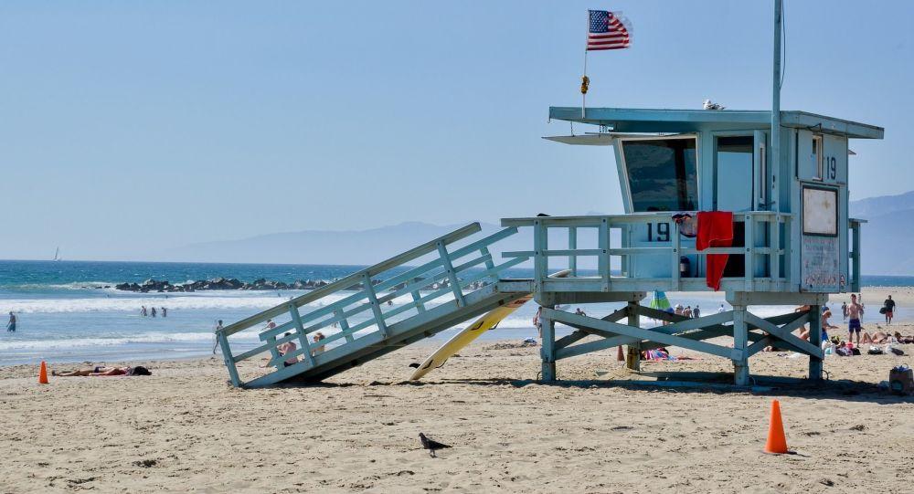 Budka záchranářů v Kalifornii