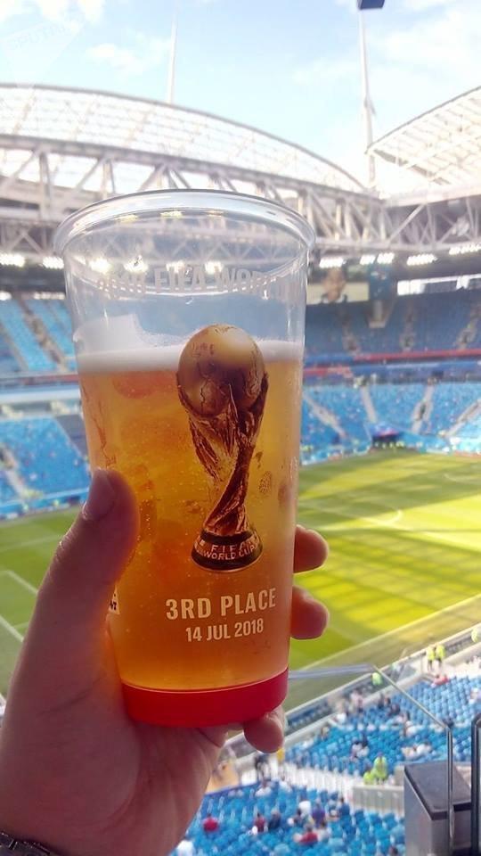 Speciální pivní sklenice na MS 2018