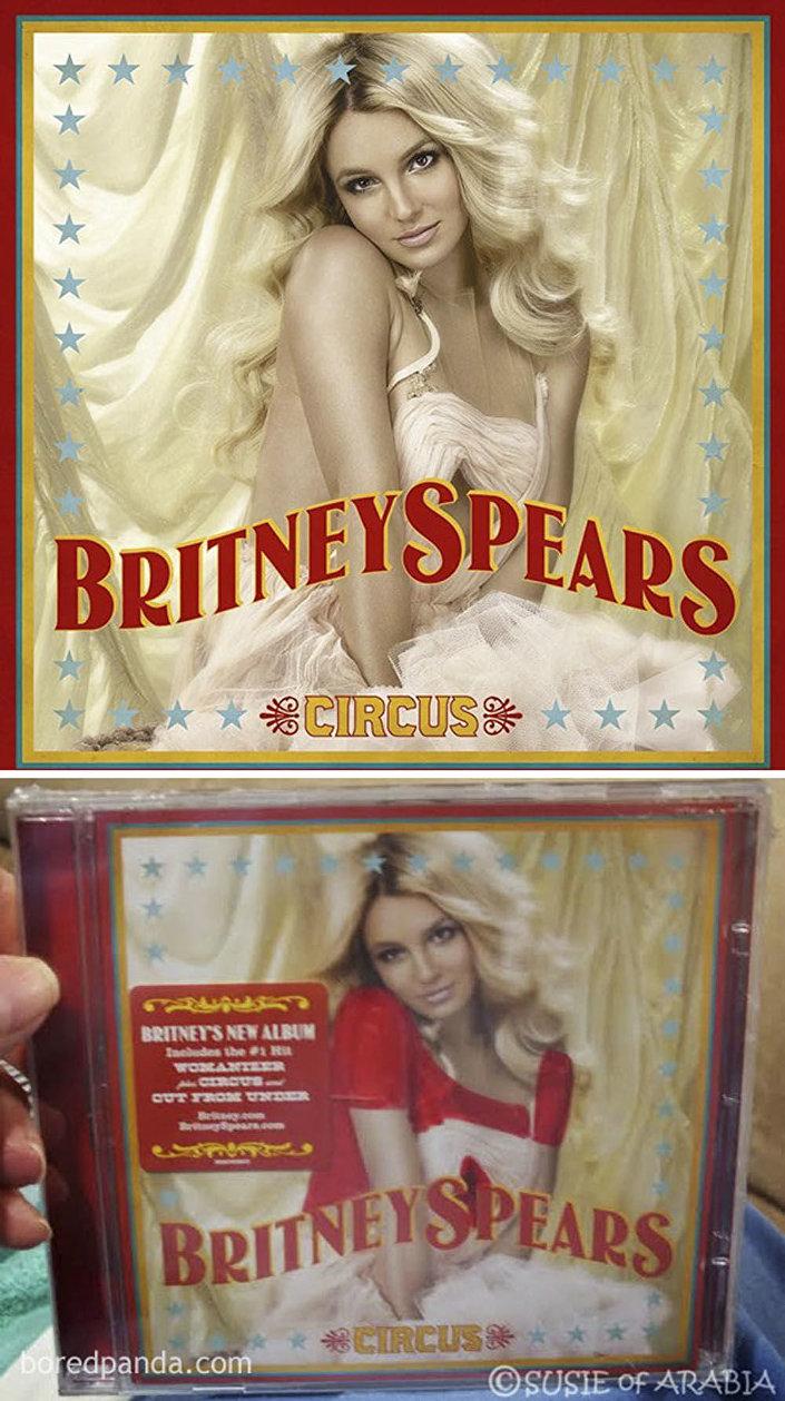 Obálka alba Britney Spearsové