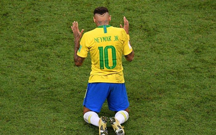 Neymar po prohraném čtvrtfinále na MS 2018 v Rusku