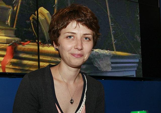 Spisovatelka Anna Starobinec na knižním veletrhu BookExpo America v New Yorku