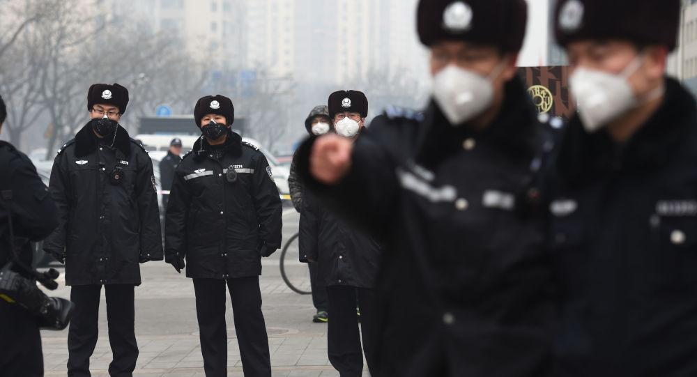 Čínská policie v Pekingu