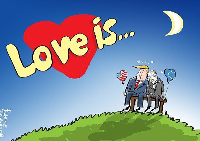 Trump vyprávěl o lásce mezi USA a Evropskou unií