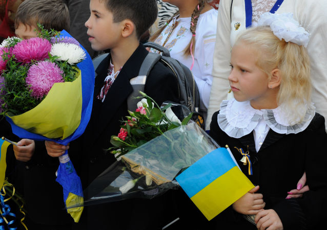 Žáci v Kyjevě