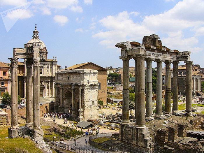 Ruiny v centru Říma, Itálie