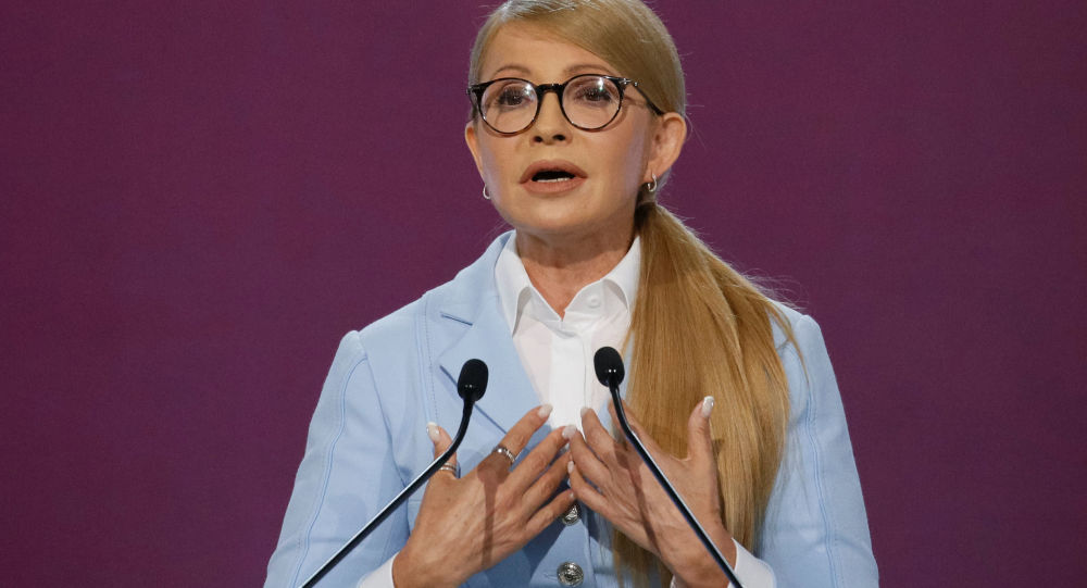 Vůdkyně politické strany Baťkyvščina Julia Tymošenková