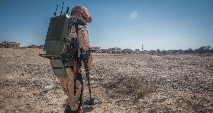Ruský ženista v Sýrii