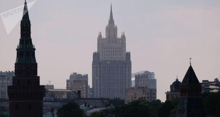 Budova ruského ministerstva zahraničních věcí v Moskvě