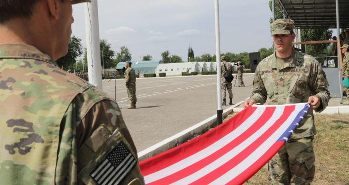 Společná cvičení amerických a kazachstánských vojáků