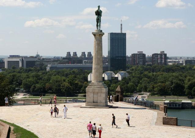 Pohled na Bělehrad, Srbsko