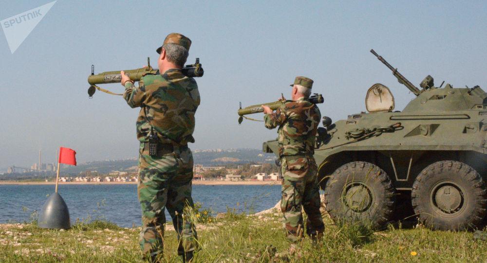 Společná rusko-syrská cvičení v Tartusu