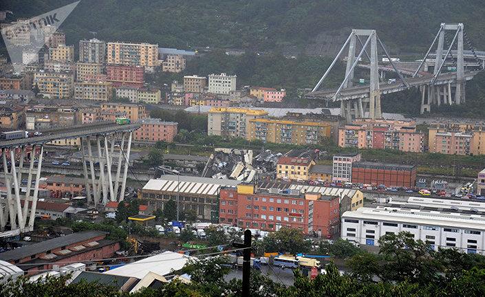 Zřícený most v Janově, Itálie