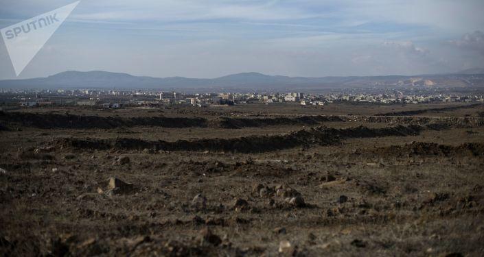 Pohled na Golanské výšiny