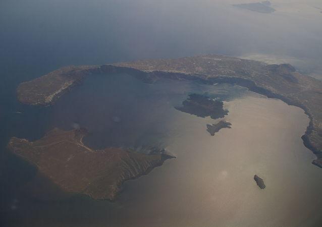 Ostrov Théra v Řecku