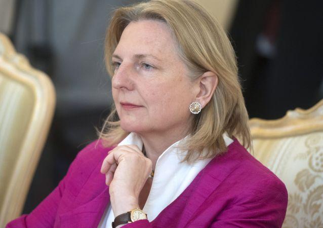 rakouská ministryně zahraničních věcí Karin Kneisslová