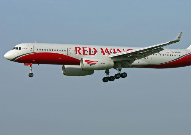 Letadlo Tu-204 spoelčnosti Red Wings. Archivní foto