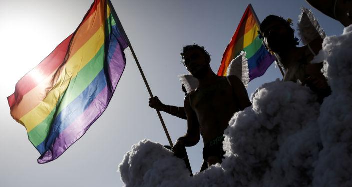 Účastníci pochodu LGBT. Ilustrační foto