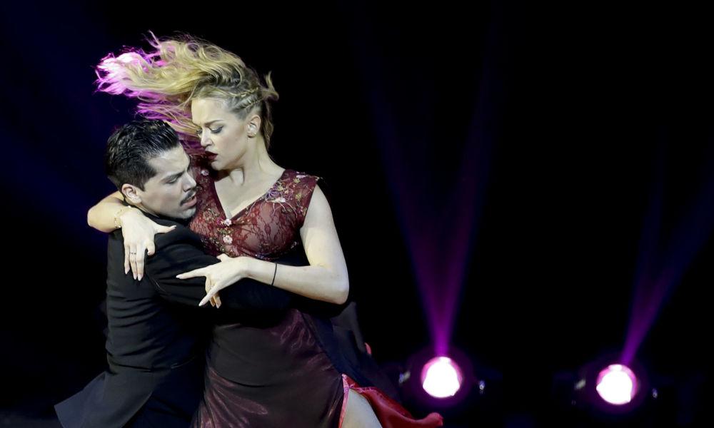 Argentinský pár Juan Cabral a Anastasia Makarovová vystupují na Mistrovství světa v tangu v Argentině.